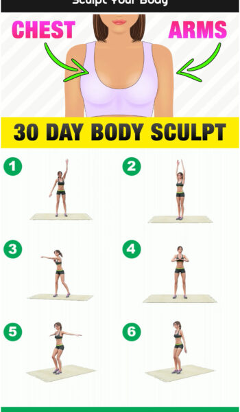 30 Day Chest + Arms Home Workout - Sculpt Your Body