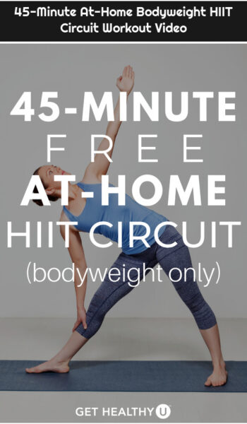 45-Minute At-Home Bodyweight HIIT Circuit Workout Video