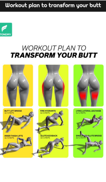 Workout plan to transform your butt