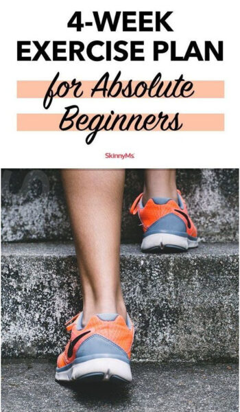 4-Week Exercise Plan for Absolute Beginners with Calendar