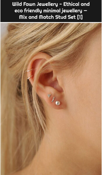 Wild Fawn Jewellery - Ethical and eco friendly minimal jewellery — Mix and Match Stud Set [1]