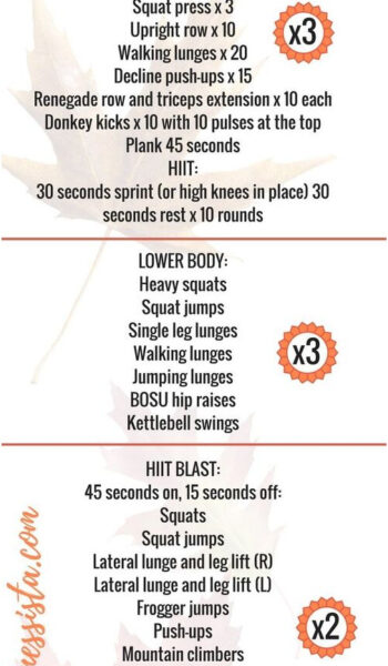 Free Fall Fitness Plan - At Home Workout Plan