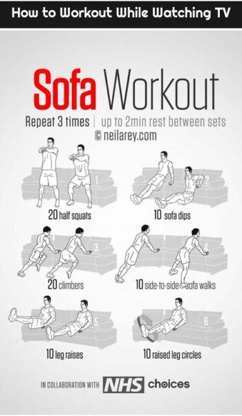 How to Workout While Watching TV