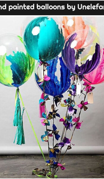hand painted balloons by Unelefante