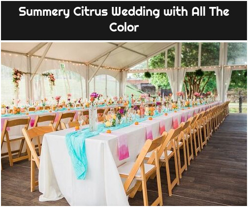 Summery Citrus Wedding with All The Color