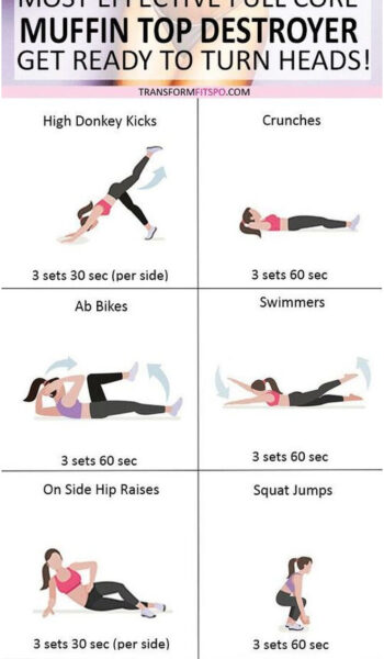 ? Most Effective Full Core Workout! Intense Muffin Top Destroyer! Get Ready to Turn Heads.. - Transform Fitspo