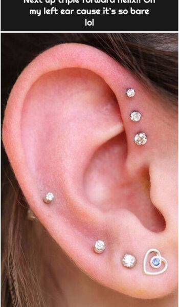 Next up triple forward helix!! On my left ear cause it's so bare lol