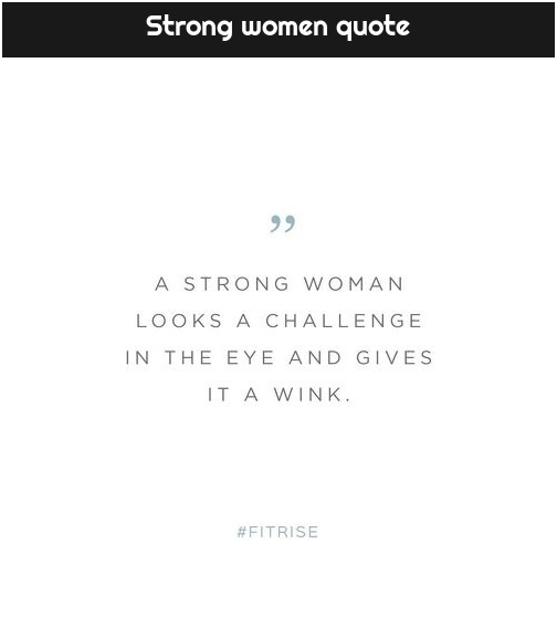 Strong women quote