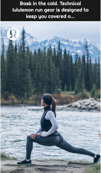 Bask in the cold. Technical lululemon run gear is designed to keep you covered o...
